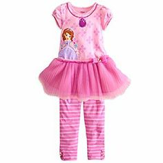 Disney Sofia Dress with Leggings Set for Girls | Disney StoreSofia Dress with Leggings Set for Girls - Your once and future princess will look just like Sofia while wearing this elegant two-piece set with layers of pleated tulle skirts and lots of fanciful trims, plus matched leggings.