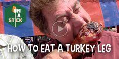 How to Eat a Turkey Leg - http://onastickpodcast.com/how-to-eat-a-turkey-leg/?utm_source=Pinterest&utm_medium=On+A+Stick+Pinterest&utm_campaign=SNAP%2Bfrom%2BOn+A+Stick