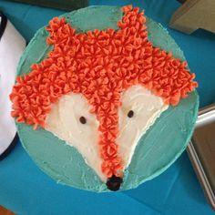 Fox cake for Adler's 1st Birthday! More
