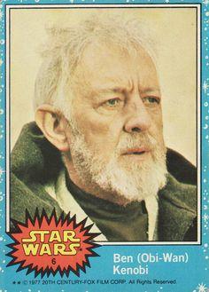 1977 Topps Star Wars Card Blue Series #6 Ben (Obi-Wan) Kenobi