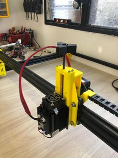 Laser Engraver by - Thingiverse Diy Laser Cutter, Laser Cutter Projects, Cnc Projects, Laser Cutter Engraver, Cnc Plasma Cutter, Cnc Software, Cnc Parts, Diy Cnc, Cnc Wood