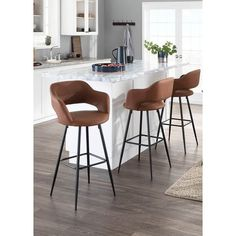 Counter Stools With Backs, Stools For Kitchen Island, Counter Height Bar Stools, Swivel Bar Stools, Bar Chairs, Bar Counter, Island Bar, Kitchen Shelves, Dining Chairs