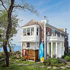 Dreamy Massachusetts Cottage | Cottage by the Sea | CoastalLiving.com Rockport! The owner as a little girl would bike pass neighbors stopping by.