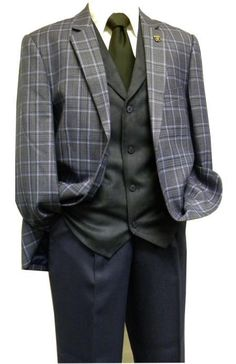 47fc71366059 Style Suit by Stacy Adams Blue Bally Vest