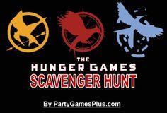 printable Hunger Games Scavenger Hunt... AWESOME!!!