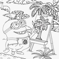 Minions Cool Activities For A Coloring Pages 111 Minion Sheets Bob Pdf