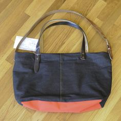 The Hanah Bag, made out of 98% recycled materials (including belts from Mission Thrift)