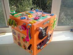 Great box, christmas gifts, busy boards, activity board, sensory doard, sensory toys, wooden toy, latch board, travel board, lock by PaintingTatyana on Etsy https://www.etsy.com/listing/293521819/great-box-christmas-gifts-busy-boards