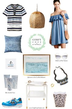 Comfy Cozy Couture: 50 Shades of Blue Wish List