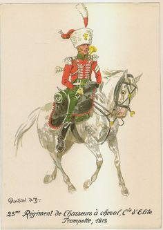 French; 25th Chasseurs a Cheval, Elite Company, Trumpeter, 1812