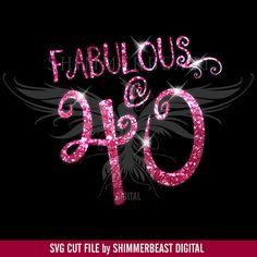 Birthday SVG Cut File   Fabulous @ 40 svg   40 and Fabulous svg   40th Birthday shirt svg   Birthday SVG design   40th birthday svg