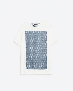 Image 8 of T-SHIRT WITH INTERIOR PRINT from Zara