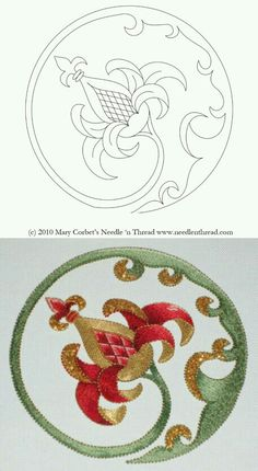 Free Hand Embroidery Pattern Pomegranate In The Round Site Includes And Shows Step By Instructions For How She Finished