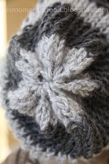 LOOM KNIT STRIPED SLOUCH HAT Free Pattern!  Make this pretty hat in one evening!