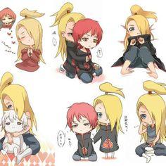 Sasori And Deidara - Yaoi - Naruto Shippuden Sasori And Deidara, Deidara Akatsuki, Naruto Y Boruto, Naruto Cute, Naruto Funny, Gaara, Narusasu, Sasuke, Naruto Fan Art