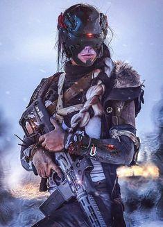 Winter Soldier by Abrar Khan Cyberpunk Girl, Cyberpunk Character, Cyberpunk 2077, Futuristic Armour, Future Soldier, Warrior Girl, Shadowrun, Character Design Inspiration, Winter Soldier