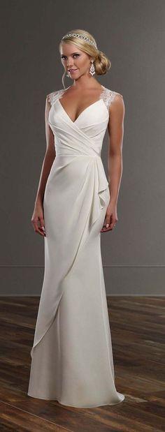 @roressclothes clothing ideas #women fashion white maxi Martina Liana Spring 2016 Wedding Dress