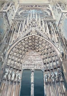 Anna Chulkova   Cathedrale Notre-Dame de Strasbourg (2018)   Available for Sale   Artsy Strasbourg, Continental Europe, Affordable Art Fair, Selling Art, Barcelona Cathedral, Notre Dame, City Photo, Artwork, Anna