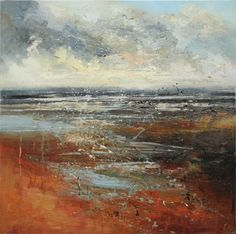 The expressive application of artist Claire Wiltsher's paint portrays the energy and wildness of her subject matter, each canvas having a sense of natural turbulence. Abstract Landscape Painting, Seascape Paintings, Abstract Watercolor, Landscape Art, Landscape Paintings, Abstract Art, Art Paintings, Art Folder, Beautiful Paintings