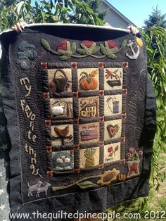 The Quilted Pineapple: Primitive Gatherings Summer Felt Applique, Applique Quilts, Applique Ideas, Embroidery Ideas, Primitive Quilts, Wool Quilts, Primitive Gatherings, Penny Rugs, Origami