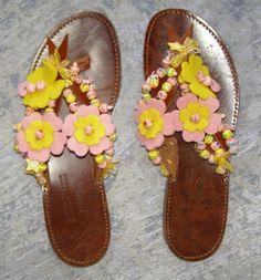 Χειροτεχνημα - Handmade: Σαγιοναρες - Sandals Palm Beach Sandals
