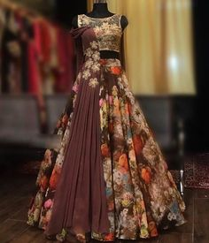 Online Bridal Lehenga Choli With Price Indian Fashion Dresses, Indian Gowns Dresses, Indian Designer Outfits, Indian Outfits, Lehenga Choli With Price, Bridal Lehenga Choli, Floral Lehenga, Indian Wedding Gowns, Wedding Dresses