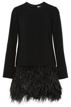 elizabeth and james serena feather trimmed cady mini dress net a