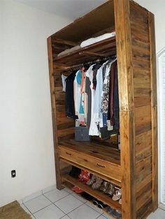 Normally you would search around so many designs, sizes and shapes of wooden pallet wardrobe. It merely depends on your quantity of the accessories that would make you learn about the fact that what sort of size you do want for your wardrobe and shoe storage box.