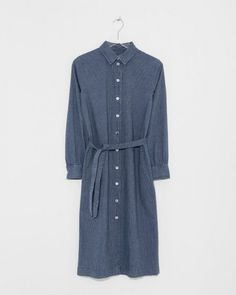 Designer Clothing, Bags, Shoes, Accessories, Home & Beauty for Women Mid Length Dresses, Parisian, Indigo, Ready To Wear, Shirt Dress, Long Sleeve, Cotton, Designer Clothing, How To Wear