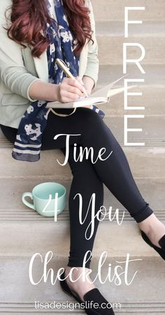 Click to grab this free 'Time For Me' checklist for busy women. 15 Quick and easy self-care ideas you can implement to Take Care of You today. Live the life you want today,  you deserve it! Hugs from Lisa xo   #selfcare #loveyourself #freechecklist
