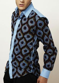 The most stylish collection of native styles and designs for guys and men in Nigeria. These men native styles for guys are meant to make you stylish and matured African Print Shirt, African Print Dresses, African Fashion Dresses, African Dress, African Shirts For Men, African Clothing For Men, African Print Fashion, African Attire, African Wear