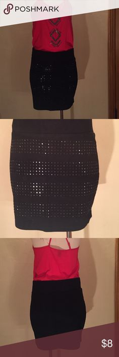 Mini skirt Mini skirt with black crystals in the front Forever 21 Skirts Mini