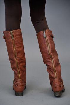 zipper back riding boots