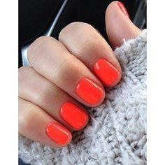 #NailArt - #vernis - #Manucure printemps orange fluo