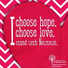 Choose hope.Choose love.