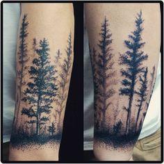 Thanks Neil #blackwork #tree #foresttattoo #treetattoo #dots