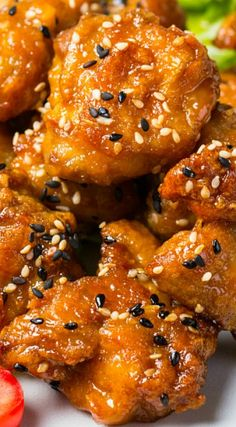 Sweet and Sticky Honey Teriyaki Chicken (Teriyaki Chicken Meals) I Love Food, Good Food, Yummy Food, Tasty, Asian Recipes, Healthy Recipes, Asian Foods, Chinese Recipes, Chinese Food