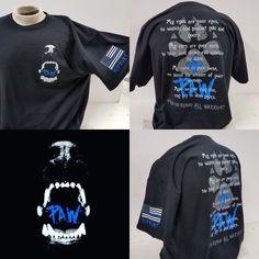 P.A.W Thin Blue Line Shirts-Adults