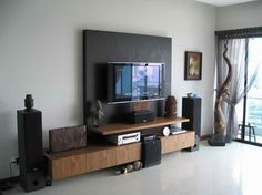 Ideas For House Painting With Black Wall Which Is Right Behind The Television As Well As White Colored Walls Complete Coupled With Tat Space Comfortable And Homely Great Ideas for House Painting Painting Ideas For The Whole House. Ideas For Painting The Outside Of Your House. Ideas For Painting A Tree House.
