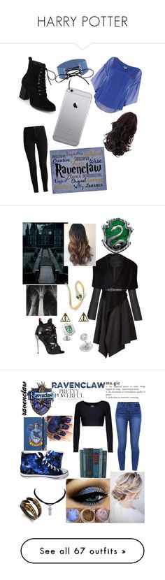 """HARRY POTTER"" by ayeshaghori ❤ liked on Polyvore featuring Phase Eight, Journee Collection, Traits, BCBGMAXAZRIA, Dsquared2, Warner Bros., Cufflinks, Inc., Anne Sisteron, Norma Kamali and Ileana Makri"