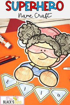 Are you looking for superhero lessons or activities?  This superhero name craft also comes with writing pages and is so easy to prep.  Simply print the pages, have students color the templates, and then complete the name practice or writing portion.  These superhero activities can be used during an All About Me unit, as a back to school lesson or anytime throughout the year.  This superhero template also comes in handy for teaching courage when students are being brave during a unique 2020… Superhero Template, Superhero Names, Alphabet Activities, Literacy Activities, Teaching Resources, Kindergarten Literacy, Early Literacy, Toddler Preschool, Toddler Activities