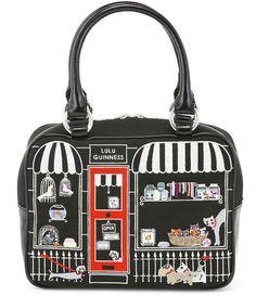 Lulu Guinness Black Small Pet Shop Jenny Bag (2010)