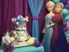 Stunning cake at a Frozen birthday party! See more party planning ideas at CatchMyParty.com!