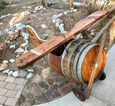 3 Fun And Easy DIY Woodworking Projects That You Can Complete This Weekend Wine Barrel Fire Pit, Wine Barrel Table, Wine Barrels, Woodworking Projects Diy, Diy Wood Projects, Wine Barrel Crafts, Whiskey Barrel Furniture, Barrel Projects, Wine House