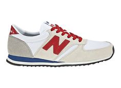 New Balance 420 - Off White with Red & Blue