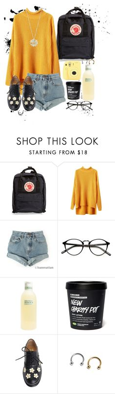 """art hoe kit."" by ma-mode ❤ liked on Polyvore featuring Fjällräven, Levi's, Tocca and Daisy Jewellery"