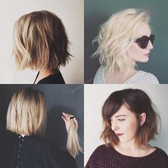 """""""Time to talk textured bob. If you're considering the chop or even taking your textured lob to a shorter length, today's post is all you. Find out what to…"""""""