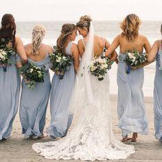 @meganheidmiller on her best friend's wedding day in Steel Blue #mumuweddings