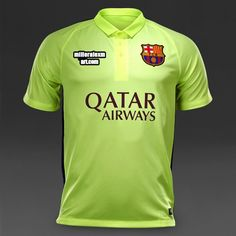 Buy the Nike FC Barcelona Third SS Stadium Shirt in Volt Ice Loyal Blue  from Pro Direct 0e533bb0155