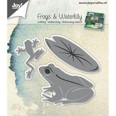 Joy! Crafts Frogs & Waterlily Dies www.papercrafts.ch
